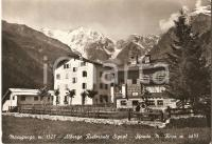 1950 ca MACUGNAGA (NO) Albergo ristorante SIGNAL Monte Rosa *Cartolina FG VG