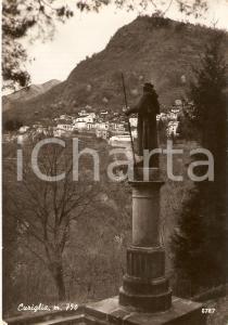 1965 CURIGLIA (VA) Panorama con monumento - VAL VEDDASCA *Cartolina FG VG