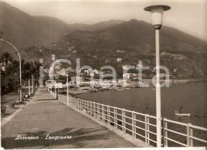 1962 ARENZANO (GE) Panorama con barca a remi e lungomare *Cartolina FG VG