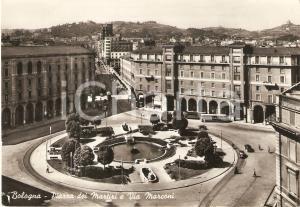 1960 ca BOLOGNA Piazza dei Martiri e via MARCONI *Cartolina FG VG