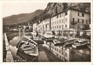 1960 OLIVETO LARIO Frazione ONNO Batell a rimessa delle barche *Cartolina FG VG