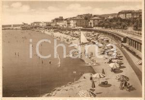 1940 ca SANREMO (IM) Panorama della spiaggia *Cartolina FG NV