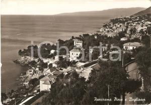 1962 BOGLIASCO e PIEVE LIGURE (GE) Panorama dei due paesi *Cartolina FG VG