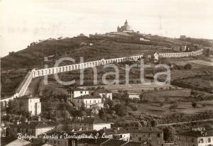1968 BOLOGNA Portici e Santuario di SAN LUCA *Cartolina FG VG