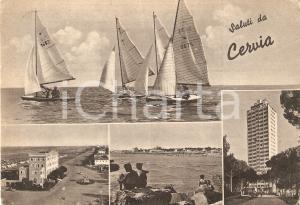 1958 CERVIA (RA) Vedutine con ragazzi sugli scogli *Cartolina FG VG