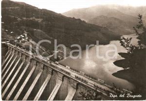 1960 LAGO DEL BRUGNETO (GE) Panorama con la diga *Cartolina FG VG