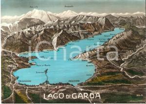 1956 LAGO DI GARDA Panorama con VAL GIUDICARIA *Cartolina FG VG