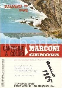 1985 GENOVA Arti grafiche B.N. MARCONI *Opuscolo pubblicitario 15x10