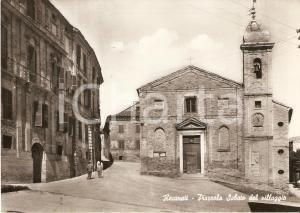 1962 RECANATI (MC) Palazzo Leopardi PIAZZA SABATO DEL VILLAGGIO Cartolina FG VG
