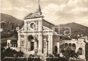1957 ARENZANO (GE) Basilica Santuario di GESU' BAMBINO DI PRAGA *Cartolina FG VG
