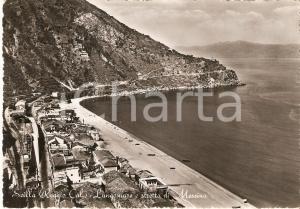 1953 SCILLA (RC) Lungomare e Stretto di MESSINA *Cartolina FG VG