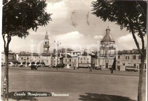 1956 CASALE MONFERRATO (AL) Panorama con Albergo MILANO *Cartolina FG VG