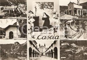 1963 CASCIA (PG) Vedutine con i luoghi di SANTA RITA *Cartolina FG VG