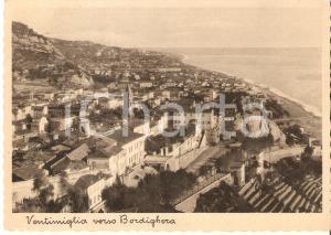 1935 ca VENTIMIGLIA (IM) Panorama verso BORDIGHERA *Cartolina FG VG