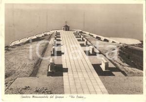 1938 MONTE GRAPPA (VI) Cimitero Monumentale - Via Eroica *Cartolina FG VG
