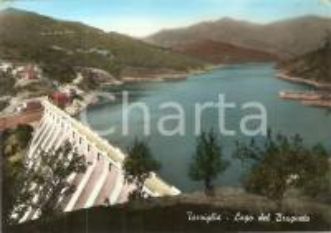 1955 ca TORRIGLIA (GE) Lago del BRUGNETO con diga *Cartolina FG NV