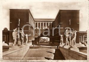 1934 ROMA Foro MUSSOLINI Accademia fascista *Cartolina FG VG