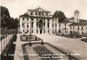 1955 LA LOGGIA Castello Carpeneto del Conte ROSSI DI MONTELERA *Cartolina FG NV