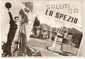 1964 LA SPEZIA Marinaio saluta la città MOnumento Generale CHIODO *Cartolina FG