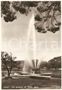 1955 ca COMO Fontana di VILLA GENO Panorama *Cartolina FG NV