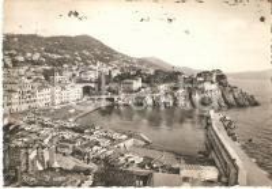 1961 GENOVA NERVI Panorama del porto *Cartolina FG VG