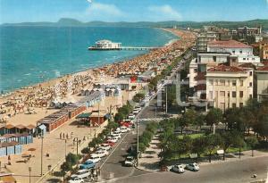 1977 SENIGALLIA (AN) Panorama della spiaggia *Cartolina FG VG