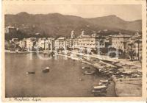 1947 SANTA MARGHERITA LIGURE (GE) Panorama con porto e barche *Cartolina FG VG