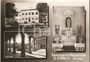 1960 ca ARONA (NO) Seminario vescovile SAN CARLO Vedutine *Cartolina FG VG