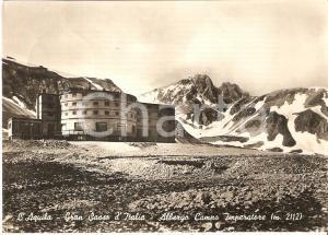 1952 L'AQUILA - GRAN SASSO D'ITALIA Albergo Campo Imperatore *Cartolina FG VG
