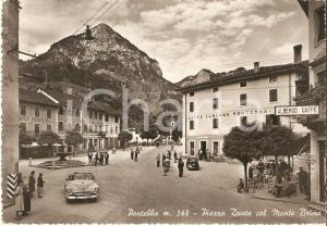 1954 PONTEBBA (UD) Abitanti ammirano l'arrivo di auto americana *Cartolina FG VG