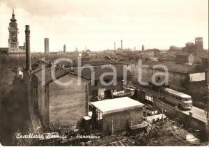 1957 CASTELLAZZO BORMIDA (AL) Panorama con ciminiera *Cartolina FG VG
