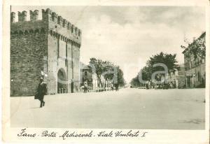 1940 FANO (PU) Porta medioevale - Viale Umberto I *Cartolina FG VG
