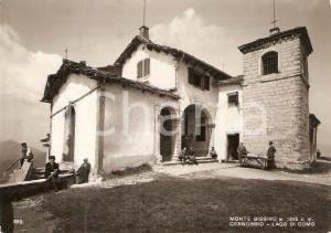 1955 MONTE BISBINO (CO) Fedeli in pellegrinaggio al Santuario *Cartolina FG VG
