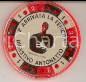 1961 DIGESTIVO ANTONETTO E' arrivata la felicità *Roulette pubblicitaria
