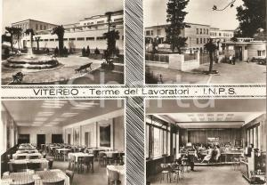 1957 VITERBO Terme dei lavoratori INPS Vedutine ANIMATE *Cartolina FG VG