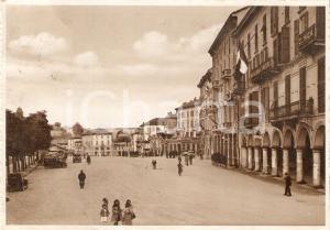 1942 MONDOVI' (CN) Monregalesi in Piazza Ellero *Cartolina FG VG