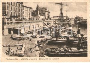 1939 CIVITAVECCHIA (RM) Calata Principe Tommaso di SAVOIA *Cartolina FG VG