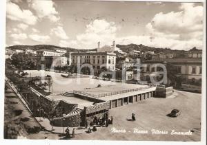 1958 NUORO Piazza Vittorio Emanuele *Cartolina ANIMATA FG VG