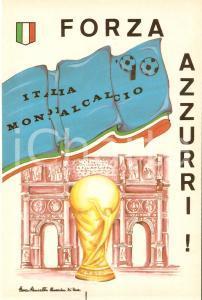 1990 ITALIA '90 WORLD CUP Mondiali di calcio *Cartolina AUTOADESIVA FG NV