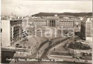 1961 CAGLIARI Piazza Repubblica e Palazzo di Giustizia *Cartolina FG VG