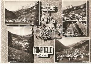1955 ca CAMPITELLO DI FASSA (TN) Vedutine con Gruppo SASSOLUNGO *Cartolina FG NV