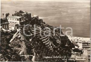 1962 BAGNARA CALABRA (RC) Castello Emmarita e il Rione MARINELLA Cartolina FG VG