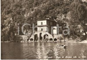 1955 ca SULMONA (AQ) In barca a remi sul Lago di SCANNO *Cartolina FG NV