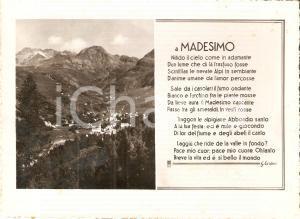 1952 MADESIMO (CO) Panorama e poesia di Giosuè CARDUCCI *Cartolina FG VG
