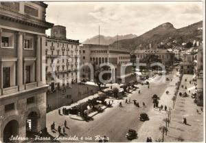 1955 SALERNO Piazza Amendola e Via Roma *Cartolina FG VG