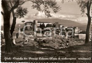 1953 EBOLI Castello Principi COLONNA Casa rieducazione minorenni Cartolina FG VG