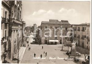 1955 CASTELTERMINI (AG) Piazza Duomo e Corso Umberto *Cartolina FG VG