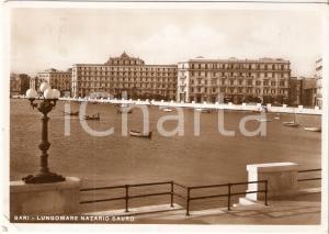 1936 BARI Barche viste dal Lungomare Nazario SAURO *Cartolina FG VG