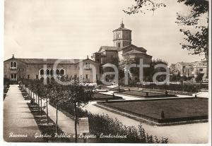 1950 RAVENNA Giardini pubblici e Loggetta Lombardesca *Cartolina FG VG