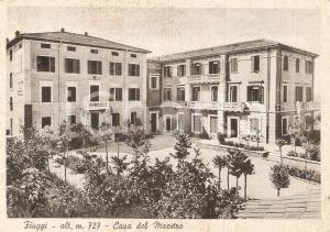 1955 FIUGGI (FR) La Casa del Maestro *Cartolina FG VG